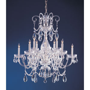 Waterfall Polished Chrome Six-Light Crystal Chandelier