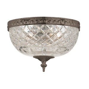 Cortland English Bronze Two-Light Flush Mount