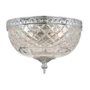 Cortland Polished Chrome Two-Light Flush Mount