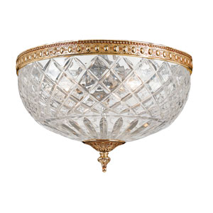 Cortland Olde Brass Two-Light Flush Mount