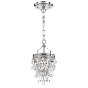 Calypso Polished Chrome One Light Mini Pendant