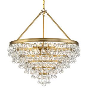 Calypso Eight-Light Vibrant Gold Chandelier