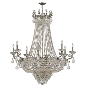 Majestic Historic Brass Twenty-Light Crystal Chandelier