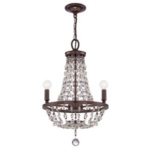 Channing Chocolate Bronze Three-Light Mini Chandeliers