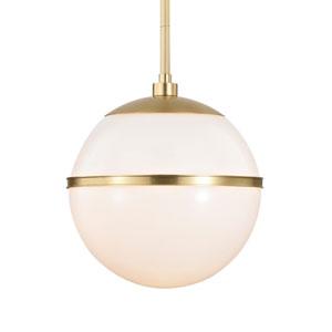 Truax One-Light Aged Brass Pendant