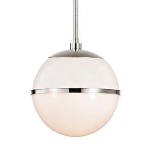 Truax One-Light Polished Nickel Pendant