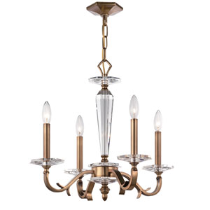 Hugo Roman Bronze Four Light Chandelier