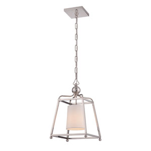 Sylvan Polished Nickel One-Light Pendant by Libby Langdon