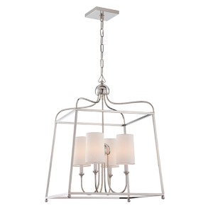 Sylvan Polished Nickel Four-Light Chandelier by Libby Langdon