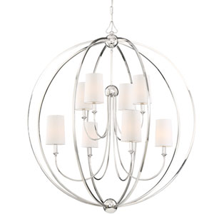 Sylvan Eight-Light Polished Nickel Chandelier