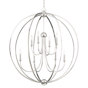 Sylvan Eight-Light English Bronze Chandelier