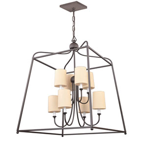 Sylvan Dark Bronze Eight-Light Chandelier by Libby Langdon