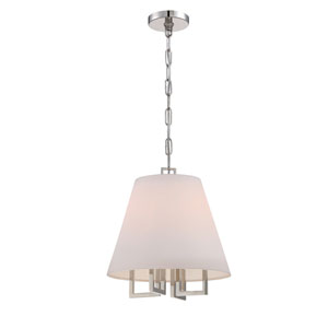 Westwood Polished Nickel 13.5-Inch Four-Light Pendant by Libby Langdon