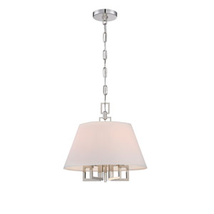 Westwood Polished Nickel 16-Inch Five-Light Pendant by Libby Langdon