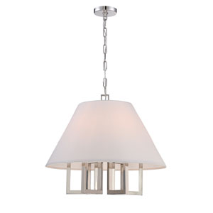 Westwood Polished Nickel 24-Inch Six-Light Pendant by Libby Langdon