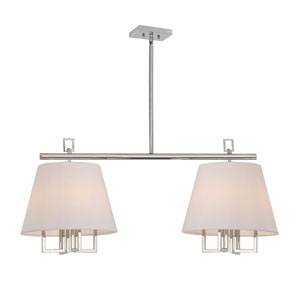 Westwood Polished Nickel 42-Inch Eight-Light Pendant by Libby Langdon