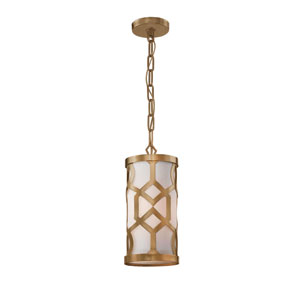 Jennings Aged Brass One-Light Pendant by Libby Langdon