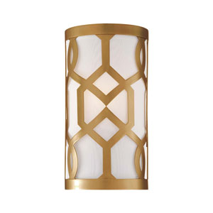 Jennings Aged Brass One-Light Sconce by Libby Langdon