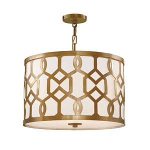 Jennings Aged Brass Three-Light Pendant by Libby Langdon