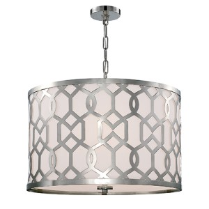 Jennings Polished Nickel 24-Inch Wide Five-Light Pendant by Libby Langdon