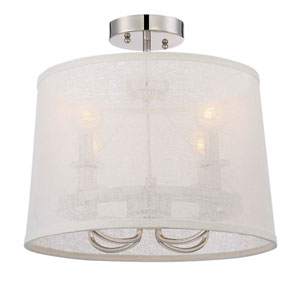 Culver Polished Nickel Four Light Flush Mount