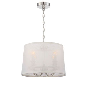 Culver Polished Nickel 15-Inch Four-Light Pendant by Libby Langdon