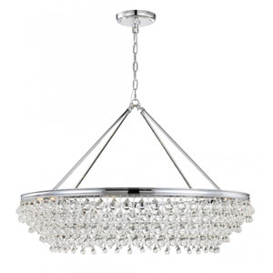Calypso Polished Chrome 40-Inch Eight-Light Pendant