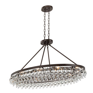 Calypso Vibrant Bronze 18-Inch Eight-Light Pendant