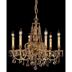 Novella Ornate Cast Brass Chandelier with Golden Teak Strass Crystal