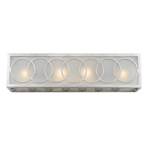 Graham Antique Silver Four-Light Bath Light