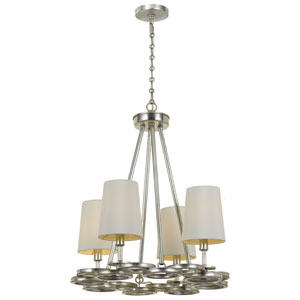 Graham Antique Silver 16.5-Inch Four-Light Chandelier by Libby Langdon