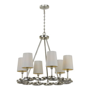 Graham Antique Silver 22.5-Inch Six-Light Chandelier by Libby Langdon