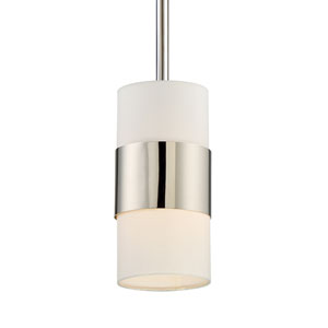 Grayson Polished Nickel One-Light Pendant