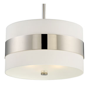 Grayson Polished Nickel Three-Light Pendant