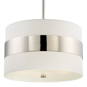 Libby Langdon for Grayson Polished Nickel Five-Light Pendant