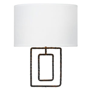 Lattice Raw Steel Two-Light Sconce