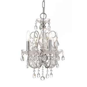 Imperial Wrought Iron Crystal Mini Chandelier with Swarovski Spectra Crystal