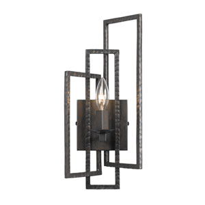 Capri Raw Steel One-Light Sconce