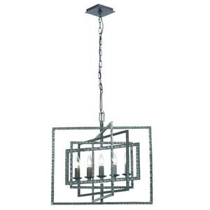 Capri Gray Five-Light Chandelier