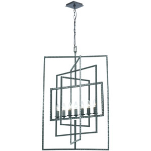 Capri Gray Seven-Light Chandelier