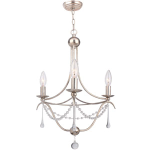 Metro II Three-Light Antique Sliver Chandelier