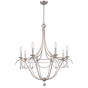 Metro II Eight-Light Antique Sliver Chandelier