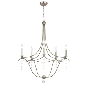 Metro Antique Sliver Five-Light Chandelier