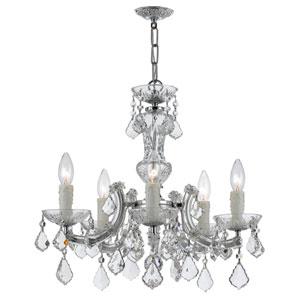 Maria Theresa Polished Chrome Five-Light Chandeliers