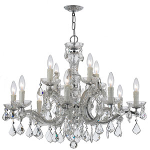 Maria Theresa Polished Chrome 12-Light Chandelier