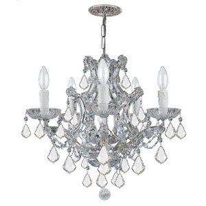 Maria Theresa Polished Chrome 20-Inch Six-Light Chandelier