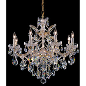 Maria Theresa Gold Eight-Light Chandelier with Swarovski Spectra Crystal