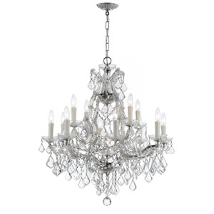 Maria Theresa Polished Chrome 13-Light Chandelier