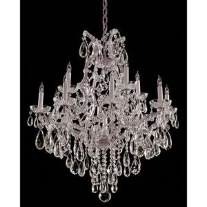Maria Theresa Polished Chrome Twelve-Light Chandelier with Swarovski Strass Crystal