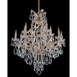Maria Theresa Gold Thirteen-Light Chandelier with Swarovski Spectra Crystal